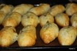 Пирожки с грибами и картошкой с пылу с жару из духовки