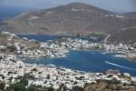 Вид на порт Скала от монастыря Св. Иоанна. Остров Патмос