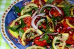 Салат с лимонными дольками от Оттоленги крупным планом