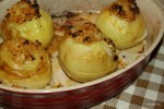 Яблоки, запеченные с начинкой из кураги и миндаля