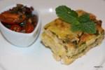 Сырное суфле с компотом из помидоров черри