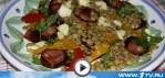 Теплый салат из чечевицы (видео-рецепт)