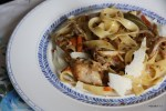 Папарделле с острым рагу из курицы