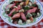 Салат с запеченным ревенем и свеклой