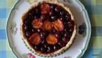 Tarta quemada с черешней и абрикосами