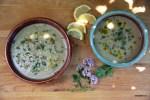 Суп-пюре из баклажанов с дымком