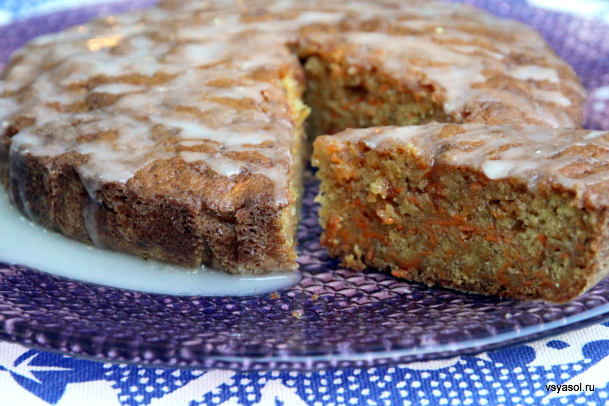 Пирог Морковник  кулинарный рецепт
