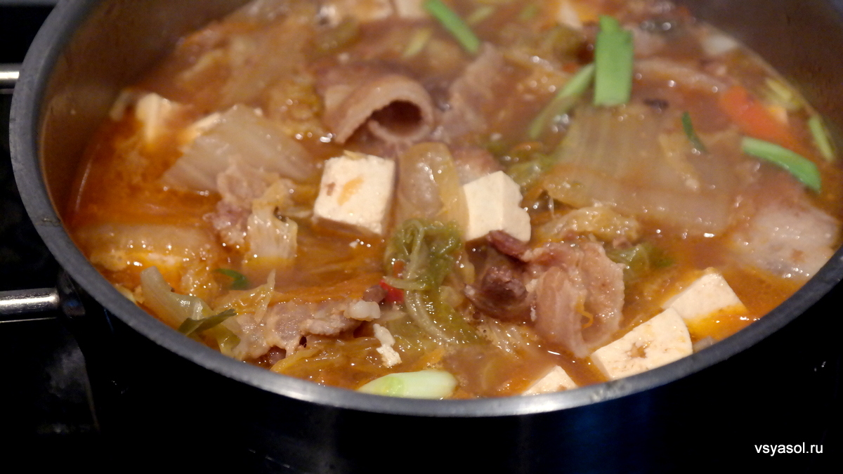 Суп кимчи тиге рецепт с фото