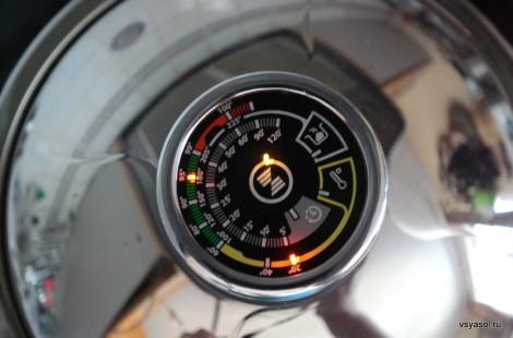 Стрелка термоконтроллера должна достигнуть 2/3 зеленого поля