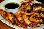 Дальневосточные креветки с чилийским соусом Пебре