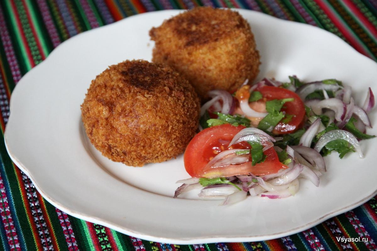 Перуанская фаршированная картошка