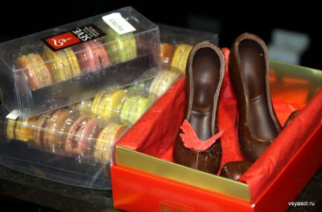 Шоколадные туфельки на Лионском рынке