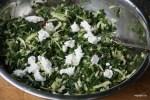 Начинка для пирога: зелень и фета