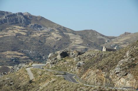 Горная дорога из Ретимно в Плакиас