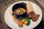 Рибай с беби картофелем  и маслом Макала;