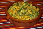 Салат из жареного кабачка с кукурузой