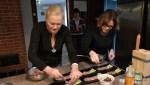 Вместе с Ириной Свидлов (мэрия Таллина) сервируем тартар