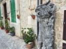 Ствол старинного оливкового дерева как элемент  уличного дизайна. Вальдемосса. Майорка