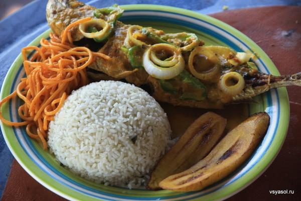 Жареная рыба по-карибски
