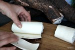 Кожура со свежей юки снимается легко, как чулок