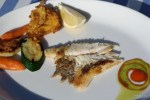 Презентация рыбного люда в ресторане Эль Фаро в порту Адриано
