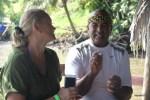 С Майрисио Лопесом Брауном на острове Бастименто, Панама