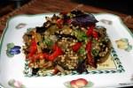 Салат из баклажанов с полбой