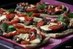 Кока с баклажанами, помидорами и кедровыми орешками