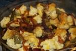 Теплый салат из шафрановой цветной капусты