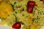 Теплый салат из цветной капусты с киноа