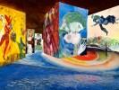 Свето-музыкальная экспозиция Шагала в каменоломнях Прованса. Фото:  Carrières de Lumières