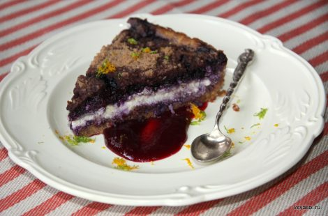 Творожно-черничный пирог