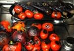 Опаленные овощи с дымком для тунисского салата