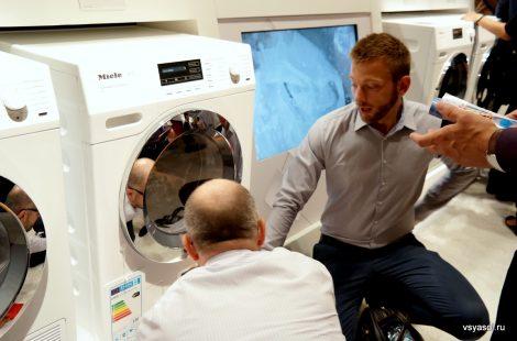 В новой стиральной машине Miele стирка и сушка производятся в одном барабане