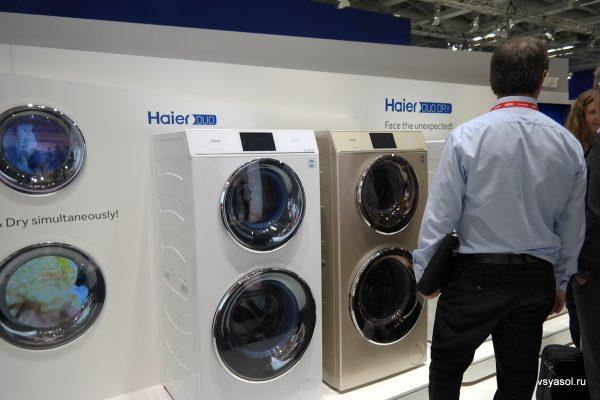 Стиральная машина Haier может стирать и сушить одновременно