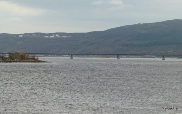 Мурманская миля - мост через Кольский залив