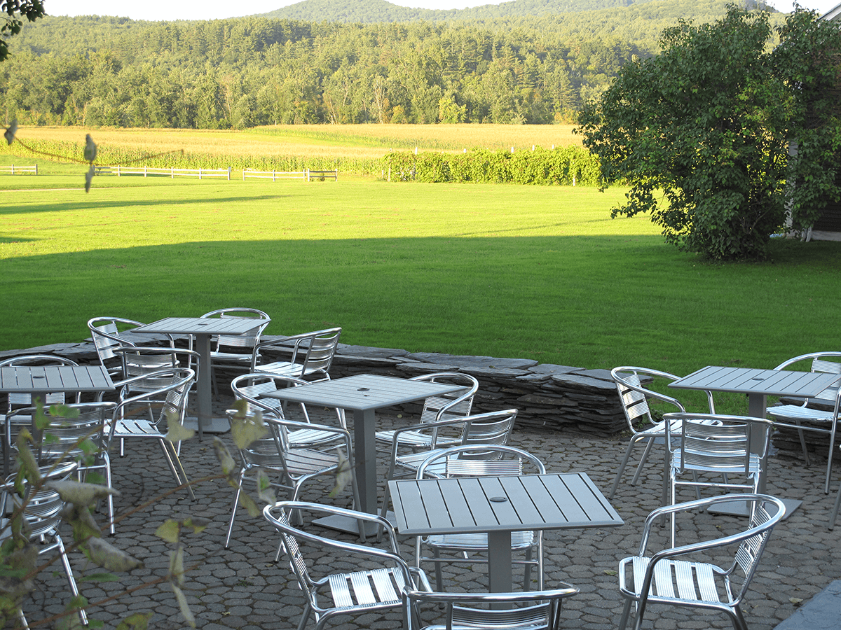 Image of the patio overlooking the vineyard