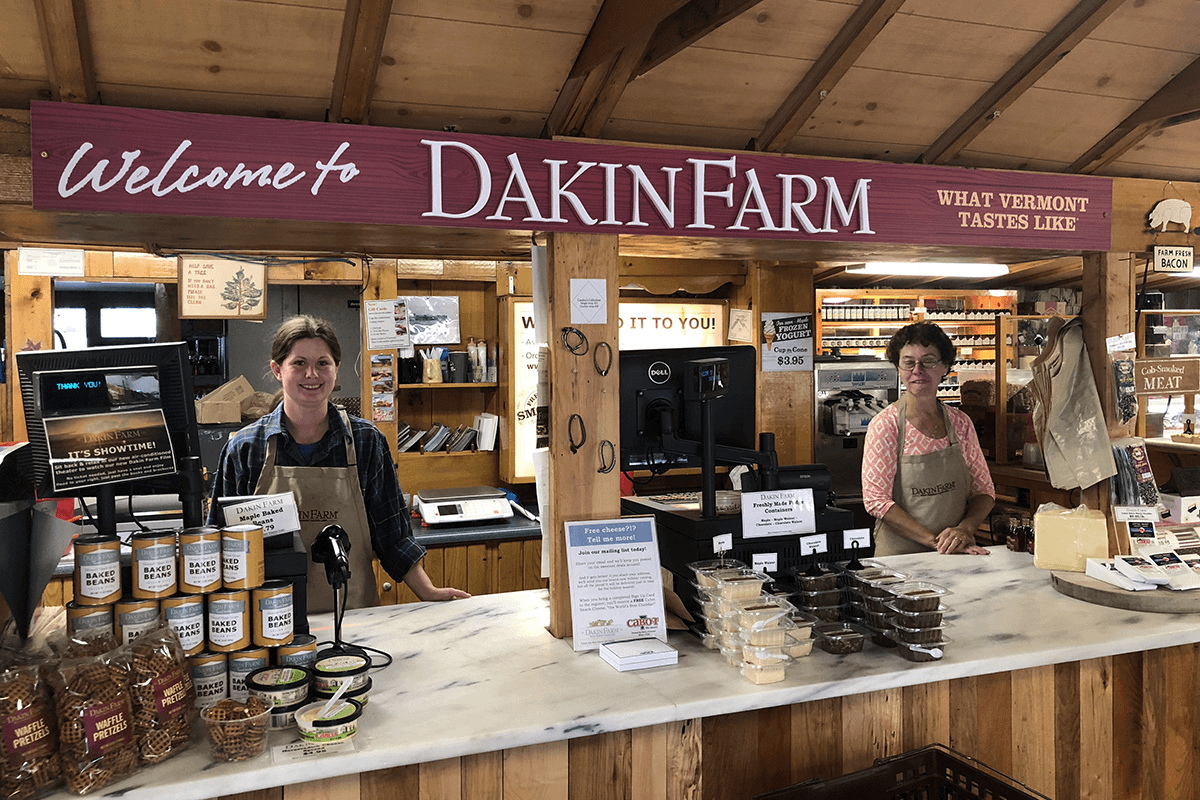 Image of the front counter at Dakin Farm