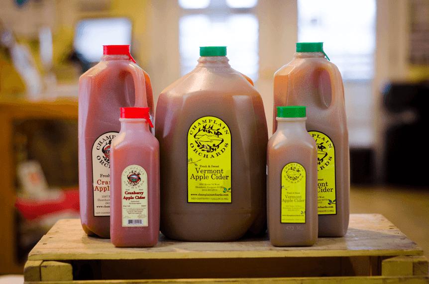 Image of jugs of apple cider