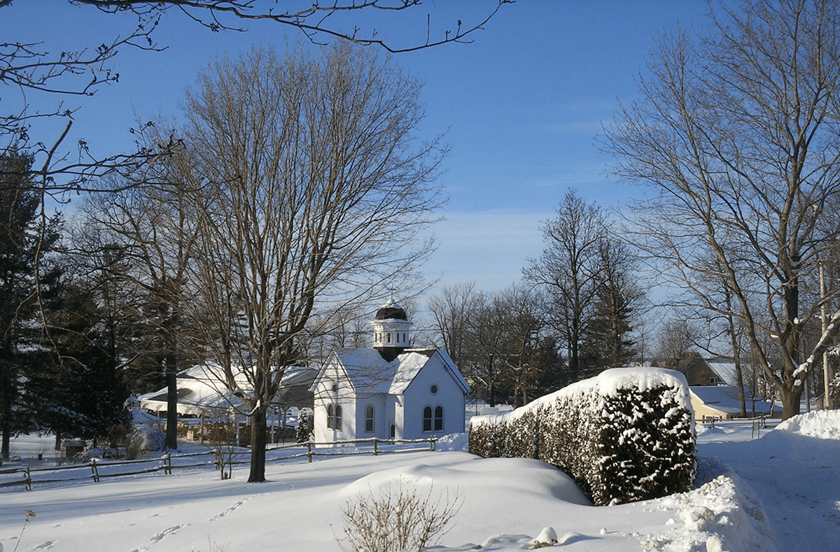 Image of winter at Saint Anne's Shrine