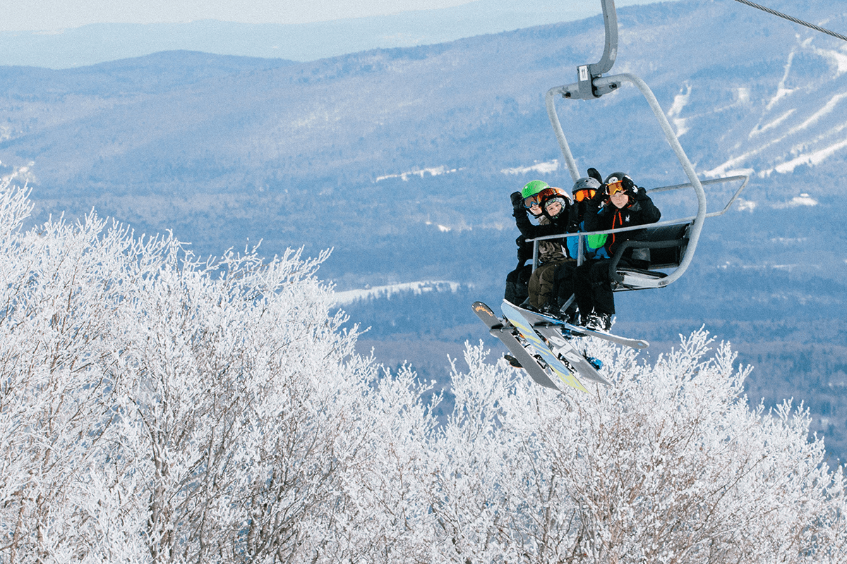 Image of kids in a chairlift