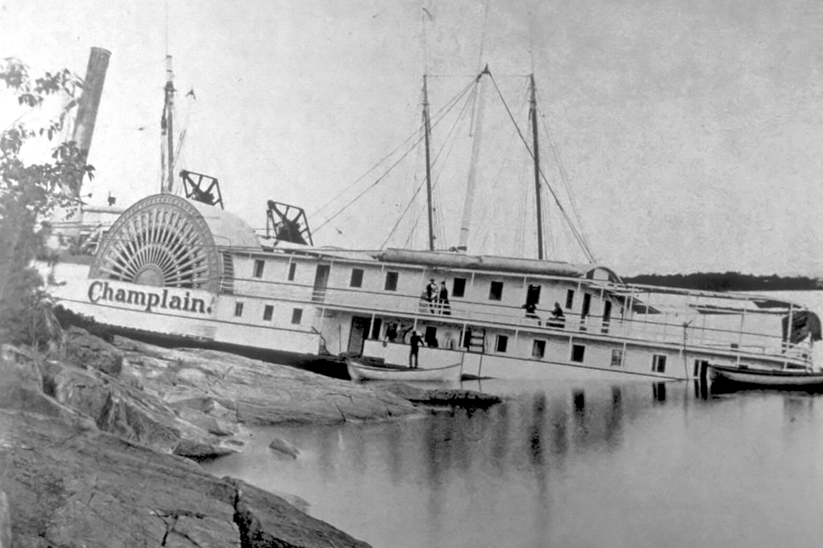 Photo of the wreck of the Champlain II