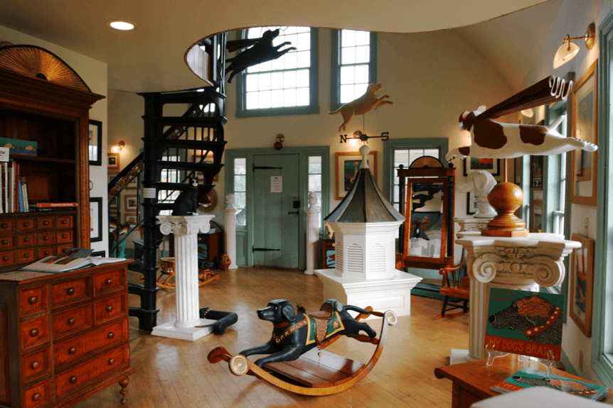 Image of Stephen Huneck Gallery interior at Dog Mountain, Home of Stephen Huneck Gallery