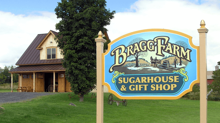 Image of Bragg Farm Sugarhouse sign