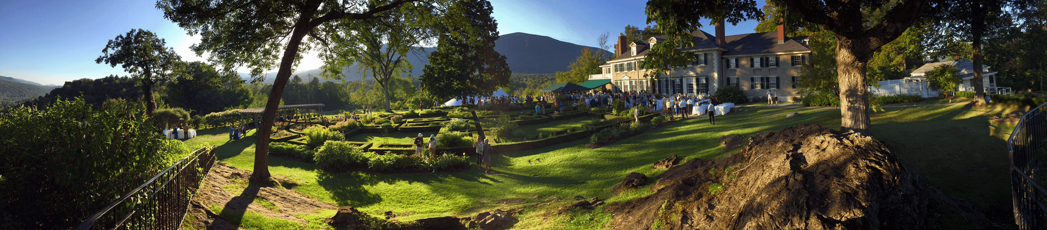 Panoramic image of Hildene, The Lincoln Family Home