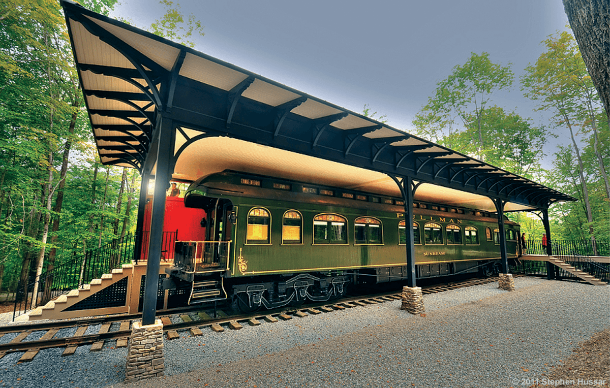 Image of SUNBEAM, the Pullman rail car at Hildene, The Lincoln Family Home
