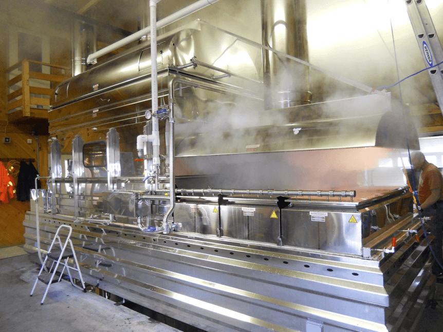 Image of evaporator boiling at Goodrich's Maple Farm