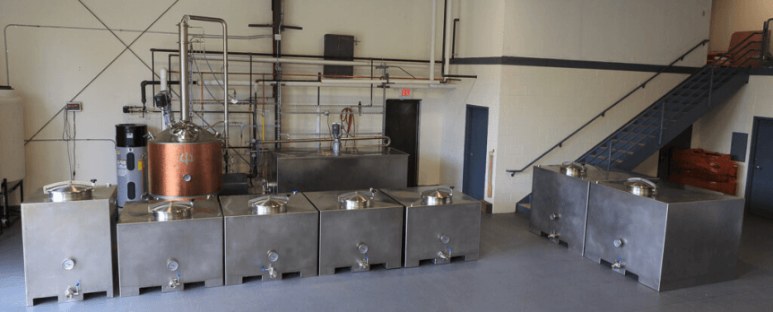 Image of fermenters at Old Route Two Spirits