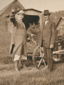 Image of President Calvin Coolidge and his Father