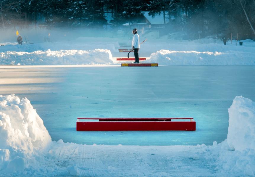 Image of one of the hockey rinks at Lake Morey Resort